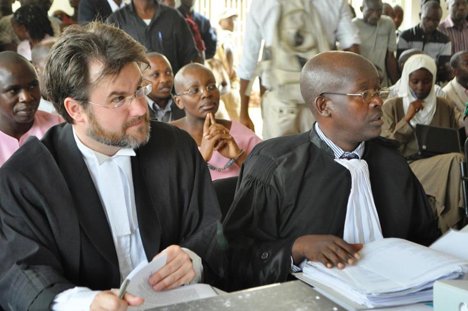 Attys-Iain-Edwards-Gatera-Gashebana-defend-Victoire-Ingabire-ctr-on-1st-day-in-court, Victoire still in prison, Congo still a human catastrophe, World News & Views