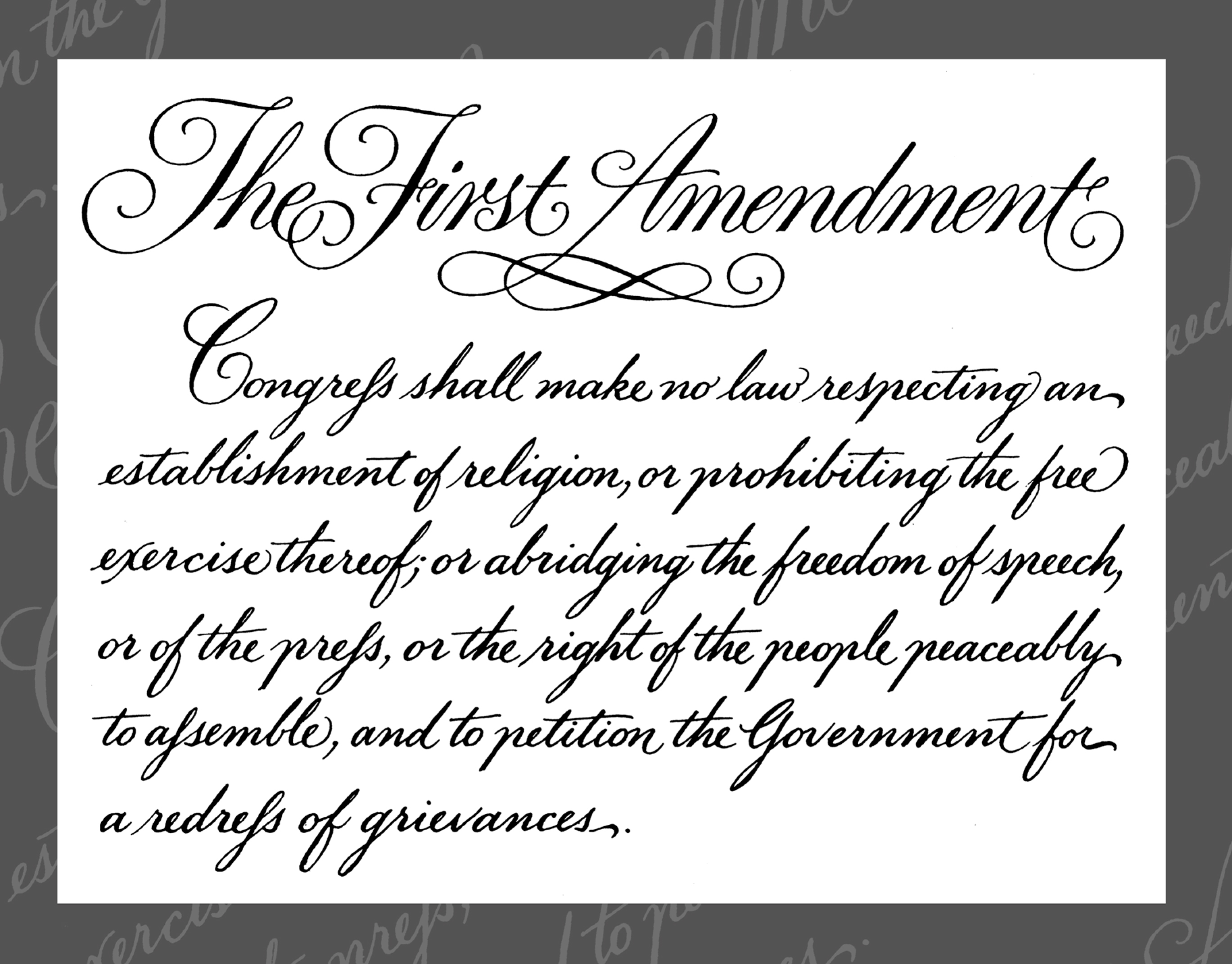 what are my first amendment rights