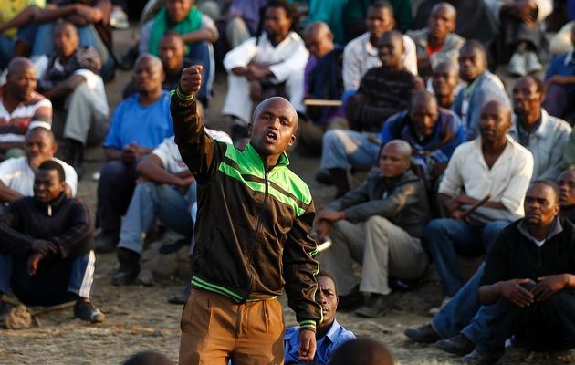 Marikana-mine-workers-leader-speaks-081612-by-Siphiwe-Sibeko-Reuters, Marikana mine workers massacred by South African police, World News & Views