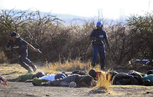 Marikana-mine-workers-massacre-081612-by-STR-EPA, Marikana mine workers massacred by South African police, World News & Views