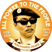 Richard_Aoki_All_Power_to_the_People_button, Fred Ho refutes the claim that Richard Aoki was an FBI informant, Local News & Views
