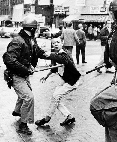 Richard_Aoki_attacked_by_police_near_UC_Berkeley_campus_1969_by_Lonnie_Wilson_Oakland_Tribune, Fred Ho refutes the claim that Richard Aoki was an FBI informant, Local News & Views