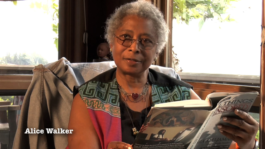 Alice_Walker_in_Mumia_film_Long_Distance_Revolutionary, Mumia, the long distance revolutionary: an interview wit' documentary producers Stephen Vittoria and Noelle Hanrahan, Culture Currents