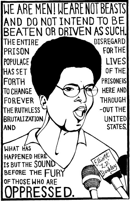 Attica_L.D._Barkley_We_are_men._We_are_not_beasts, U.S. prisons packed with political prisoners, National News & Views
