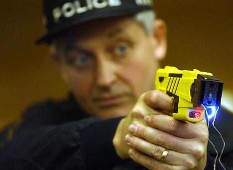 Blue-eyed_cop_shooting_taser_2006, SFPD facing people in crisis: No gun, no taser! Talk 'em down, Local News & Views
