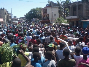 Cap_Haitien_anti-corruption_march_Down_with_Martelly_and_the_pink_hunger_092112_by_AlterPress3, Outsiders EXPECT burning tires in Haiti ... not accurate reporting, World News & Views