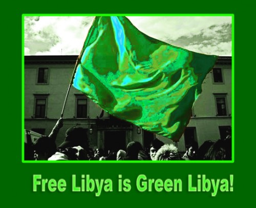 Free-Libya-is-green-Libya-poster, Benghazi attack: Libya's Green Resistance did it … and NATO powers are covering up, World News & Views
