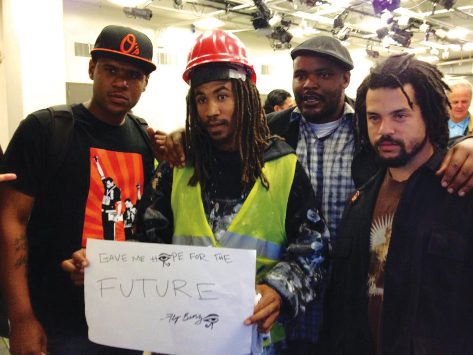 Haroldinho_Bell_Fly_Benzo_Jameel_Rasheed_Patterson_Shango_Abiola_support_City_College_071012_by_Jim_Menchini, Corporations try to kill community colleges, National News & Views