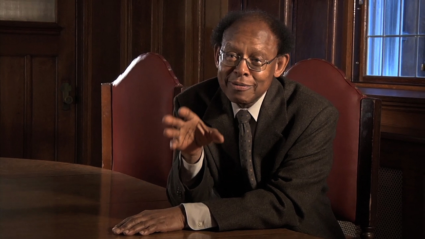 James_Cone_in_Mumia_film_Long_Distance_Revolutionary, Mumia, the long distance revolutionary: an interview wit' documentary producers Stephen Vittoria and Noelle Hanrahan, Culture Currents