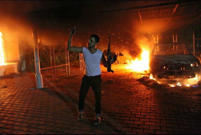 Libya-US-embassy-Benghazi-burns-091112-by-STR-AFP-Getty-Images, Benghazi attack: Libya's Green Resistance did it … and NATO powers are covering up, World News & Views