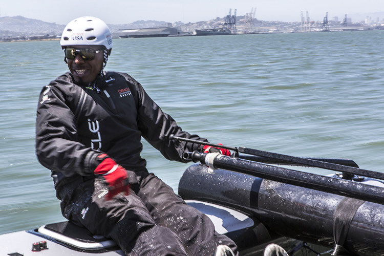MC-Hammer-on-Oracle-Americas-Cup-boat-061512-by-Guilain-Grenier-Oracle-Team-USA, Ships ahoy! America's Cup overflows $1 billion or more, Culture Currents