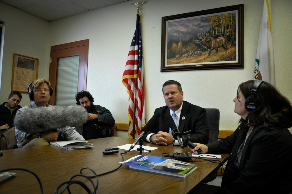 Pelican_Bay_Acting_Warden_Greg_Lewis_talks_with_reporters_081711_by_Julie_Small_KPCC1, PBSP update: Assessment of meetings with assistant warden, Behind Enemy Lines