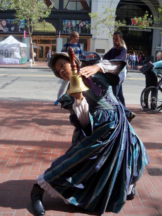 Raissa+Simpson+as+Sara+Lester+in+'Sailing+Away'+Market+St.+0912+by+Wanda, Joanna Haigood's 'Sailing Away': Black exodus from San Francisco 1858 and 2012, Culture Currents