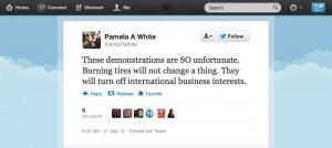 US_Ambassador_to_Haiti_Pamela_White_tweet_1_0921122-300x134, Outsiders EXPECT burning tires in Haiti ... not accurate reporting, World News & Views