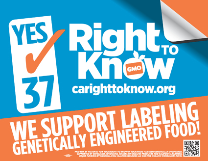 Yes_on_37, Prop 37: We deserve to know what's in our food, National News & Views