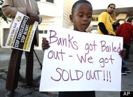Banks_got_bailed_out_we_got_sold_out_lil_boy_at_rally_by_AP, Banks spend millions on ads to silence media on foreclosure crisis: Vote Yes on C, Local News & Views