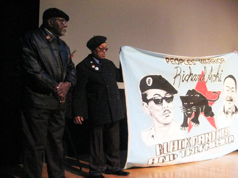 Big_Man_Terry_Cotton_with_Richard_Aoki_banner_at_his_funeral_0309_by_Carole_Hyams, Richard lives! More thoughts on my friend, Richard Aoki, Local News & Views