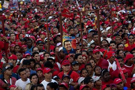 Hugo-Chavez-rally-2-days-before-election-crowd-100312-by-Rodrigo-Abd-AP, Victory for Chávez is a victory for Latin America, World News & Views