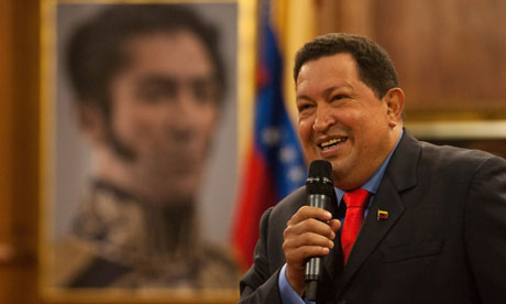 Hugo-Chavez-speaks-at-post-election-press-conf-100912-by-Miguel-Gutierrez-EPA, Victory for Chávez is a victory for Latin America, World News & Views