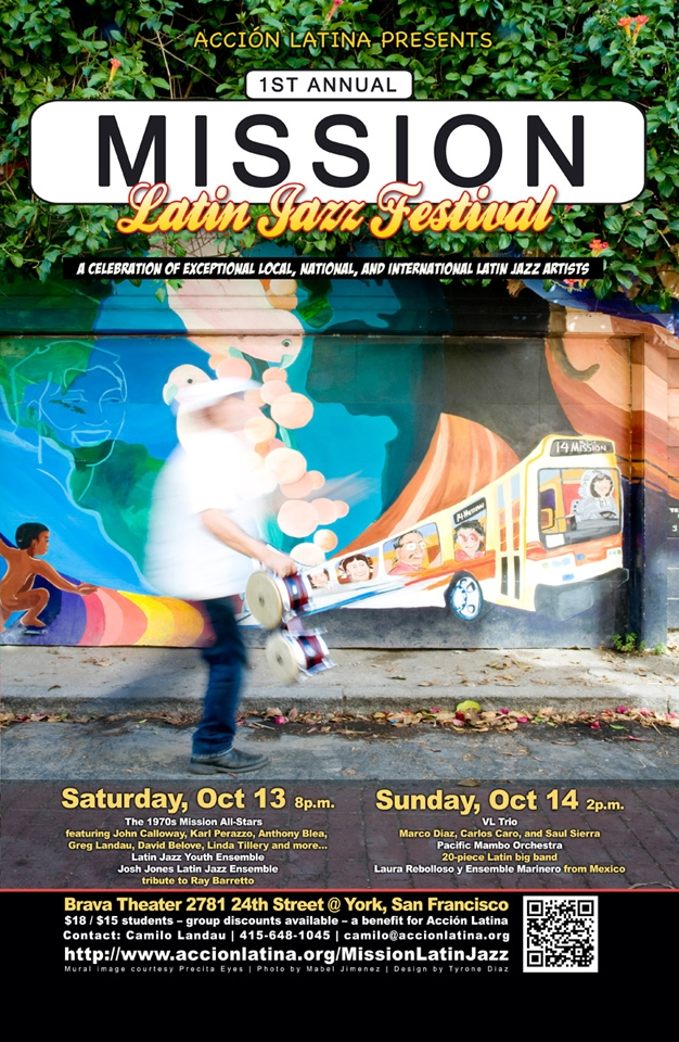 Latin-Mission2, Acción Latina presents First Annual Mission Latin Jazz Festival Oct. 13-14, Culture Currents