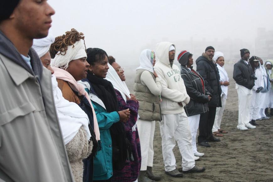 Maafa-Wanda-in-group-SF-Ocean-Beach-101010-by-TaSin-Sabir, Wanda's Picks for October 2012, Culture Currents
