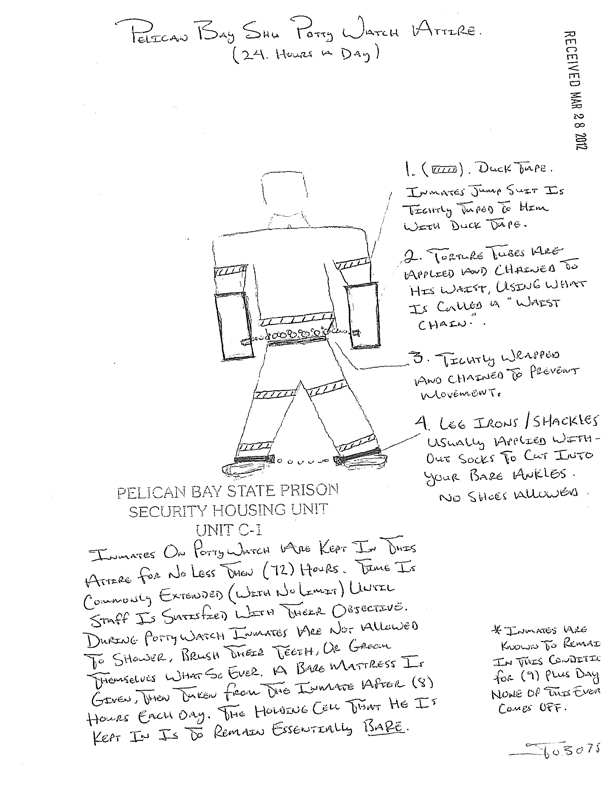 Pelican_Bay_SHU_potty_watch_attire_drawing_by_prisoner-1_web, Freedom, justice and human rights vs. potty watch, Behind Enemy Lines
