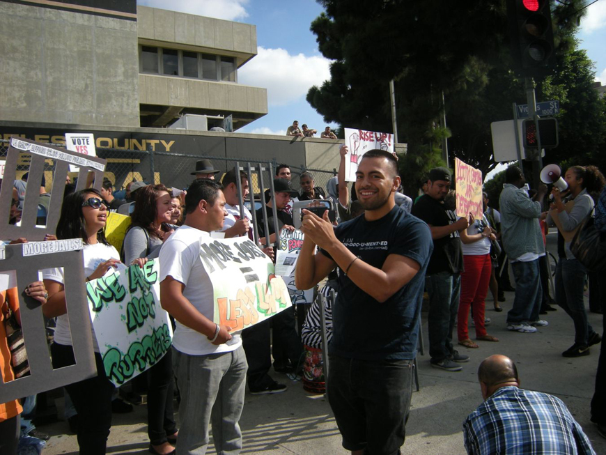 Rally_to_End_All_Racial_Hostilities_LA_County_Jail_101012-11_by_Virginia_Gutierrez, End of hostilities holds in prisons statewide and spreads to the streets, Behind Enemy Lines