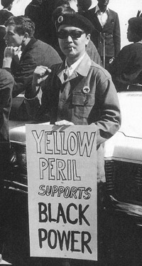 Richard_Aoki_w_sign_Yellow_Peril_Supports_Black_Power_at_1968_BPP_rally1, Richard lives! More thoughts on my friend, Richard Aoki, Local News & Views