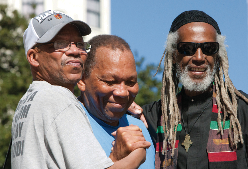 Black-Panther-Party-46th-Anniversary-Bobby-McCall-Melvin-Dixon-Elder-Freeman-at-Oscar-Grant-Plaza-101312-by-Malaika-w2, In celebration of true revolutionaries, Local News & Views