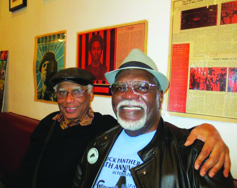 Black-Panther-Party-46th-Anniversary-Dr.-Tolbert-Small-Big-Man-at-Oscar-Grant-Plaza-101312-by-Carole-Hyams, Terry Collins and Willie Ratcliff, the OGs of KPOO and the Bay View, discuss life and Black Media Appreciation Night, Local News & Views