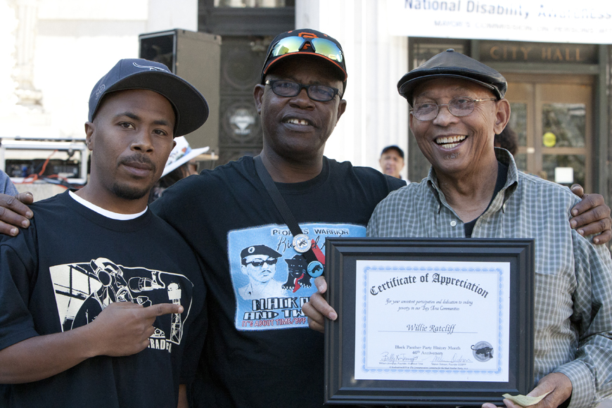 Black-Panther-Party-46th-Anniversary-JR-Billy-X-Jennings-Willie-Ratcliff-at-Oscar-Grant-Plaza-101312-by-Malaika-web, In celebration of true revolutionaries, Local News & Views