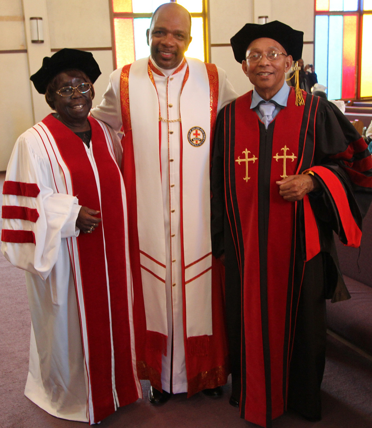 Espanola-Jackson-Willie-Ratcliff-awarded-doctorates-of-humanities-by-Bishop-Ernest-Jackson-102812-by-Francisco-web, Terry Collins and Willie Ratcliff, the OGs of KPOO and the Bay View, discuss life and Black Media Appreciation Night, Local News & Views
