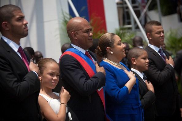 Haiti-President-Michel-Martelly-family-Olivier-Malaika-Michel-Sophia-Yanni-Sandro-inauguraton-051511-by-Bossip, Resistance to Martelly regime grows in Haiti, World News & Views
