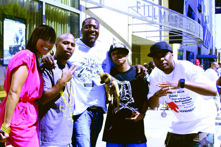 Ms.-Be-JR-Ray-Luv-Money-B-Mac-Mall-outside-Digital-Underground-Tupac-bday-concert-SF-Yoshis-061612-by-BRR-web1, Terry Collins and Willie Ratcliff, the OGs of KPOO and the Bay View, discuss life and Black Media Appreciation Night, Local News & Views