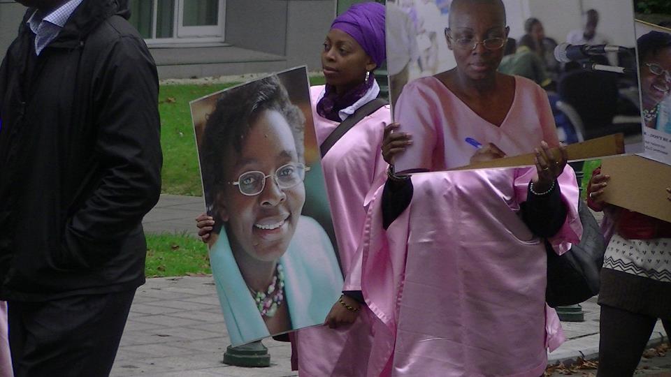 Victoires-daughter-Raissa-Brussels-rally-102012, Victoire Ingabire's family faces her prison sentence in Rwanda, World News & Views