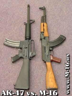 AK-47, M-16