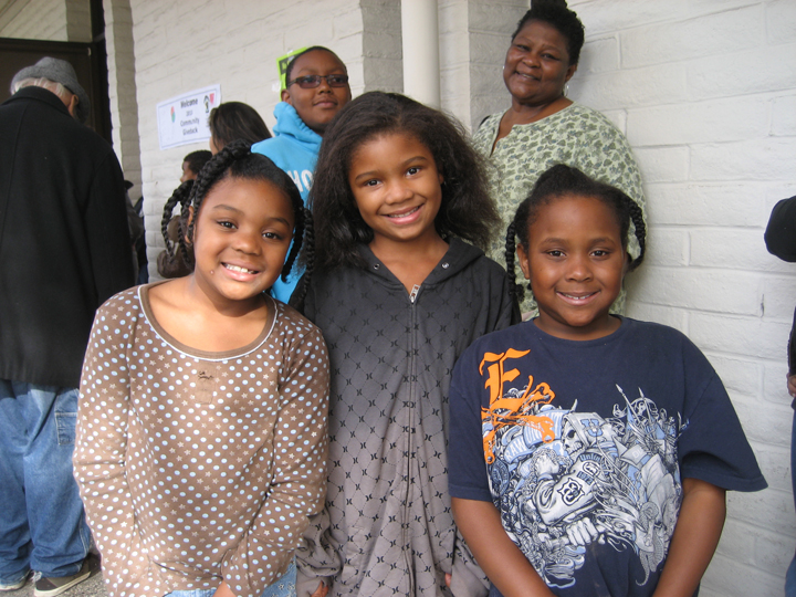 All of Us or None 13th Annual Community Giveback cousins Malaysia, Aniya, Bryanna, Bryan, Grandmother Victoria 120812