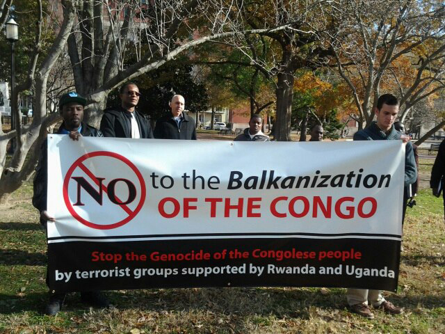 Congolese-allies-protest-M23-112812-in-front-of-White-House-by-Joseph-Mbangu, Six million dead since 1996? It's time to break the silence on the Congo War, World News & Views