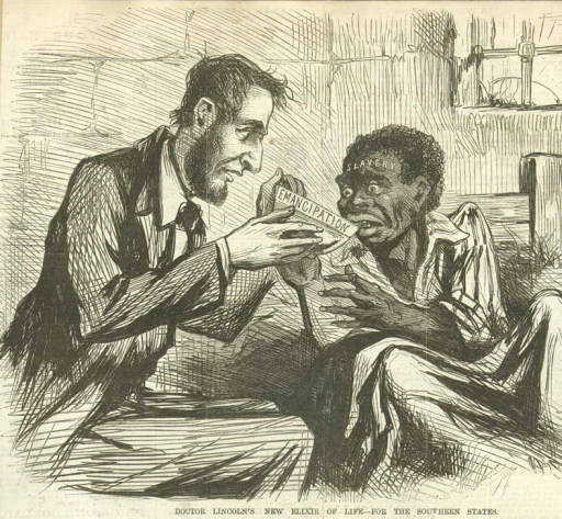 Doctor-Lincolns-new-elixir-of-life-GÇö-for-the-Southern-states-engraved-cartoon-by-Thomas-Nast-New-York-Illustrated-Ne, The legend of Lincoln unchained, Culture Currents