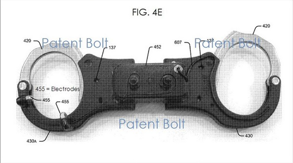 Electric-Shock-Handcuffs-Patent-Concept