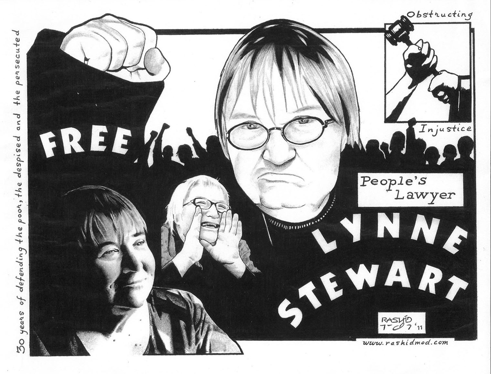 Lynne-Stewart-graphic-1211-by-Rashid-Johnson-web, Free Lynne Stewart: an open letter to the Center for Constitutional Rights, Behind Enemy Lines