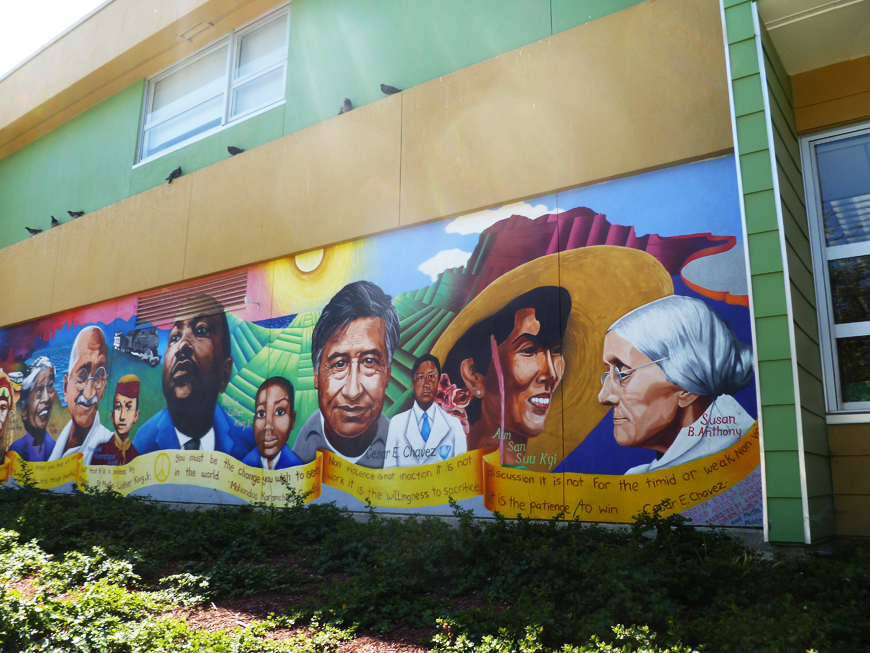 Martin-Luther-King-Middle-School-mural-by-UPWA, Stop retaliation, racism and bullying by principal of Martin Luther King Middle School, Local News & Views