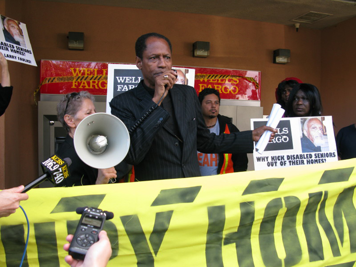 Occupy-Our-Homes-protest-Archbishop-Franzo-King-speaking-BVHP-Wells-Fargo-120612, 'Occupy Our Homes' protest: Wells Fargo Bayview Branch Ground Zero, Local News & Views
