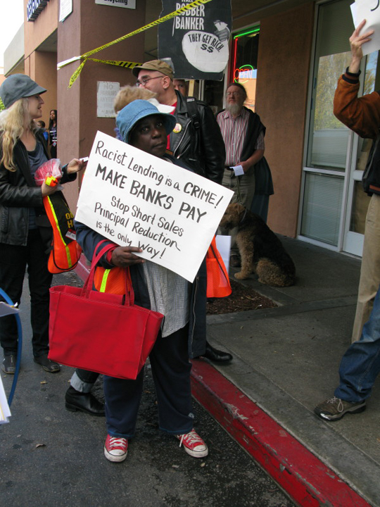 Occupy-Our-Homes-protest-Racist-Lending-is-a-Crime-BVHP-Wells-Fargo-120612, 'Occupy Our Homes' protest: Wells Fargo Bayview Branch Ground Zero, Local News & Views