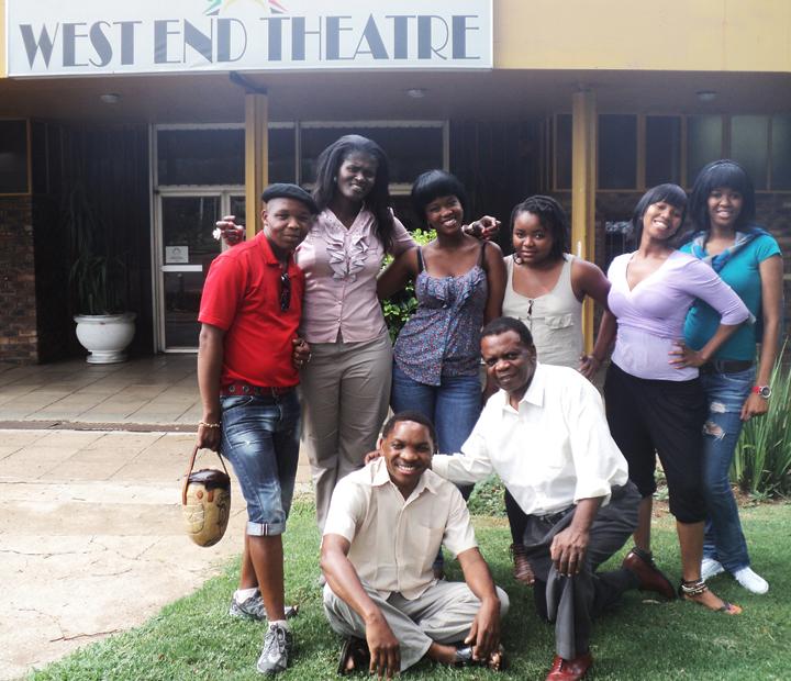 Playwright-Salaelo-Meredi-his-actors-Westend-Theatre-Black-community.-Pretoria-Alexandra-Township-011012, Wanda's Picks for December 2012, Culture Currents