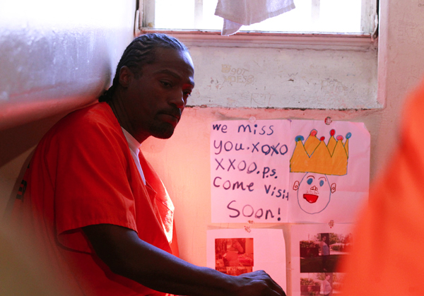 Inmate Anthony Turner, 46, who said he is serving 25 years to life for a three strikes offense, sits in his cell at the California Institution for Men state prison in Chino