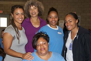 CCWF Alicia Walters, Women's Policy Institute, Angela Davis visit women prisoners 2010