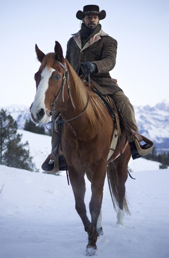 Jamie-Foxx-as-Django-in-Django-Unchained, Wanda's Picks for January 2013, Culture Currents