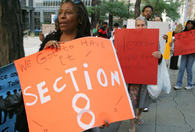 New York protest against cuts to Section 8 2004 by Bonile Bam, Getty