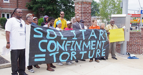 Solitary-Confinement-Torture-protest-by-Human-Rights-Coalition-Penn, Build a movement to close solitary confinement, Behind Enemy Lines
